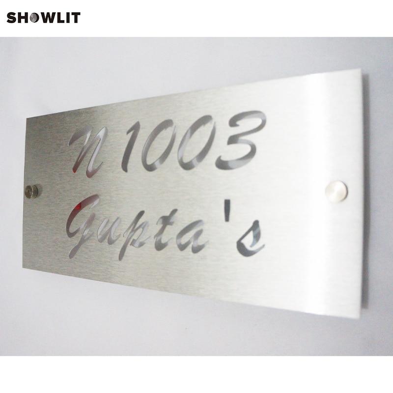 Modern Brushed Aluminum Install Address SignsModern Brushed Aluminum Install Address Signs
