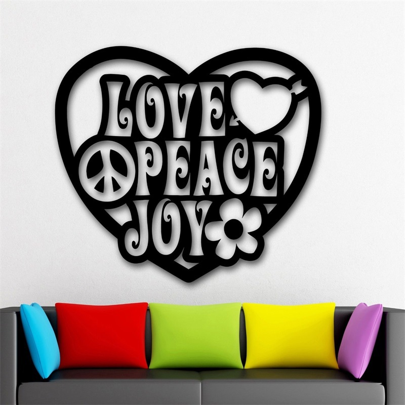 Wall Stickers Vinyl Decal Love Joy Peace Pacifism Hippie-in Wall Stickers from Home u0026 Garden on Aliexpress.com | Alibaba Group  sc 1 st  AliExpress.com & Wall Stickers Vinyl Decal Love Joy Peace Pacifism Hippie-in Wall ...