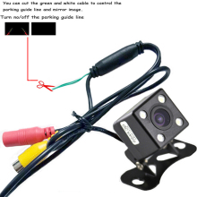 CCD HD night vision car rear view camera front for all auto Universal with LED lights