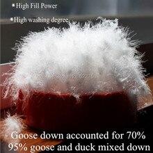 95% белый гусиный пух и утка смешанной вниз/Гусь составили 70%/fill power 750/одеяло и куртка наполнитель/0,5 кг Цена