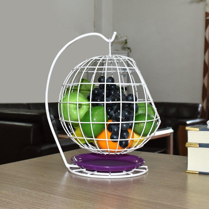 Panier de fruits en forme de comptoir | Panier de fruits domestique en métal panier de fruits noir Style créatif panier de rangement