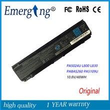 10.8 V 48Wh Nueva Batería Original Del Ordenador Portátil para Toshiba Satellite C855D C55 C50 PA5024U PA5109 L800 L830 PA5024-1BRS PABAS260