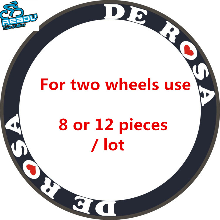 One Bicycle Wheelsets Stickers Reflective for 38mm 40mm 50mm 60mm Road Bike White or Black Color Choice 8/12 Pieces/set ...