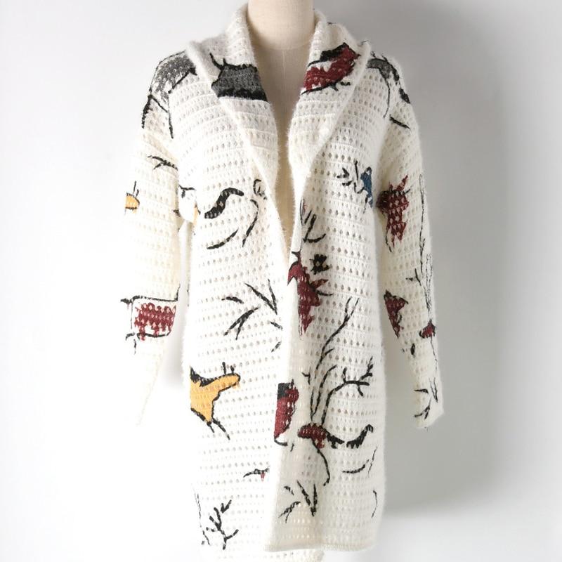 Vison Cardigan 2018 Cachemire Point Mode Long Les Manteau Pour Femmes Ouvert 44HUwrq