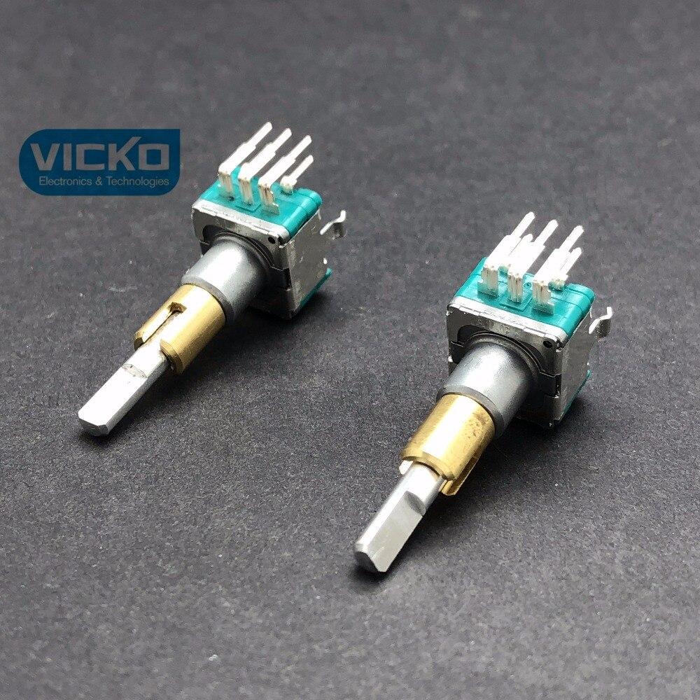 VK ALPS EC11EBB24C03 dual double encoder EC11 EBB24C03 with switch 15 pulse point smooth 30