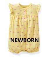 SR1-002,Original, Just Arrived, Baby Girls 1-Piece Set, Sleeveless Romper, Cute Pattern, Super Quality, Free Shipping