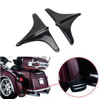 2x Black Motorcycle Front Lip Edge Trim Rear Fender Wheel Shell Trim Cover For Harley Trike