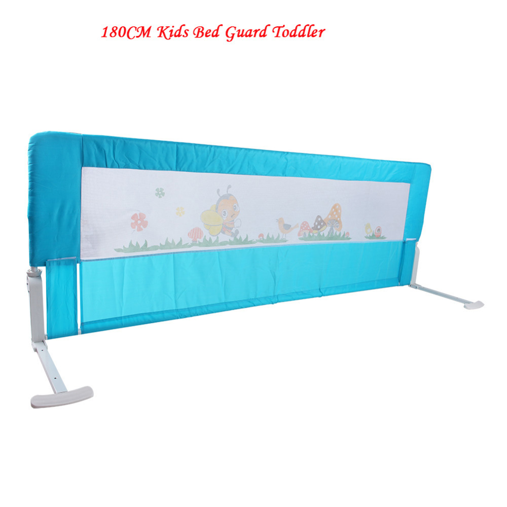 Baby bed gates - 180cm Kids Bed Guard Toddler Safety Childs Bedguard Baby Folding Rail Protection Guards