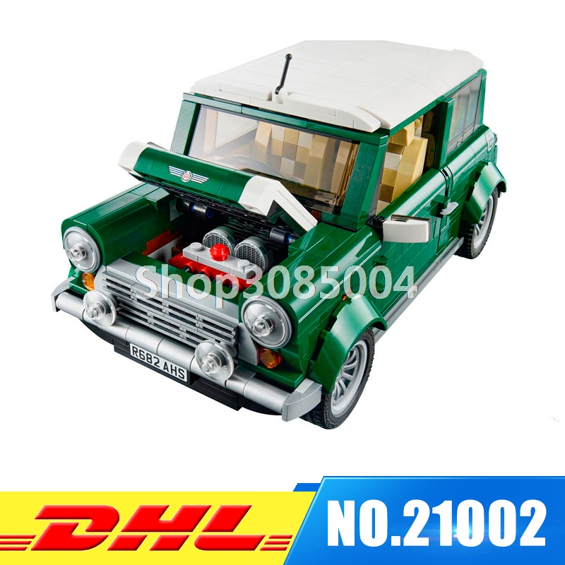 DHL Free shipping LEPIN 21002 1108 pcs MINI Cooper Model Building Kits Blocks Bricks Toys Compatible With 10242 free shipping lepin 16002 pirate ship metal beard s sea cow model building kits blocks bricks toys compatible with 70810