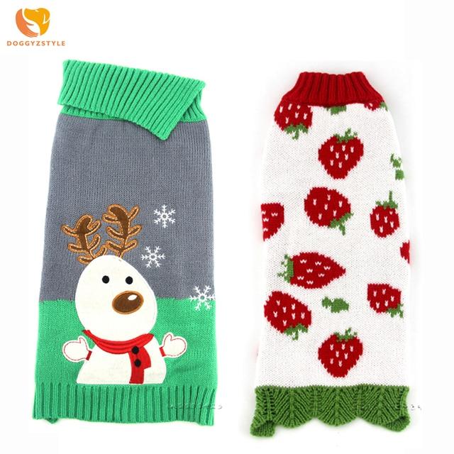 Nueva Navidad suéter del perro mascotas ropa para perros de invierno ...