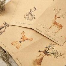20 pcs/lot Deer Paper Envelope Designs Cute Mini Envelopes Vintage European Style For Card Scrapbooking Gift Free shipping