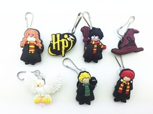 7Pcs Harry Potter Shoe accessories Shoe Charms Shoe Decoration with Zipper Pull Zipper Slider for Jacket Backpack Bag(China (Mainland))