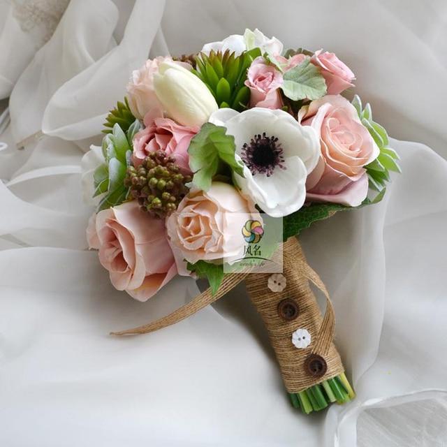 Customize Handmade Wedding Bouquet Flower Bridal Bridesmaid Bouquets ...