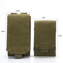 Outdoor Tactical Mobile Phone Bag Camouflage Hunting Hook Ring Belt Bag Nylon Mobile Phone Bag ring linked belt with bag