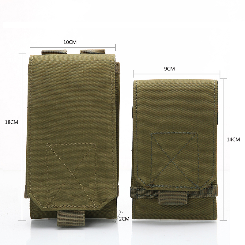 Outdoor Tactical Phone Bag MOLLE Army Camo Camouflage Bag Hook Loop Belt Pouch 1000D Nylon  Mobile Package W2