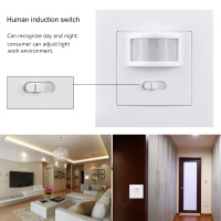 LED Lights Switches Smart PIR Infrared Motion Sensor Light Switch Wall Mounted Socket Adapter 110V 240V