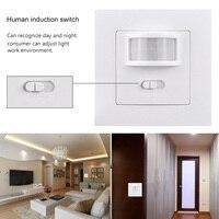 LED Lights Switches Smart PIR Infrared Motion Sensor Light Switch Wall Mounted Socket Adapter 110V 240V