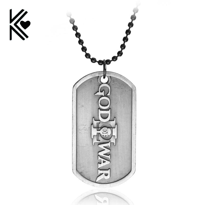 Games PS4 GOD OF WAR 3 Pendant Necklace Dog Tag Charm Pendants & Necklaces For Fans Wholesale Retail