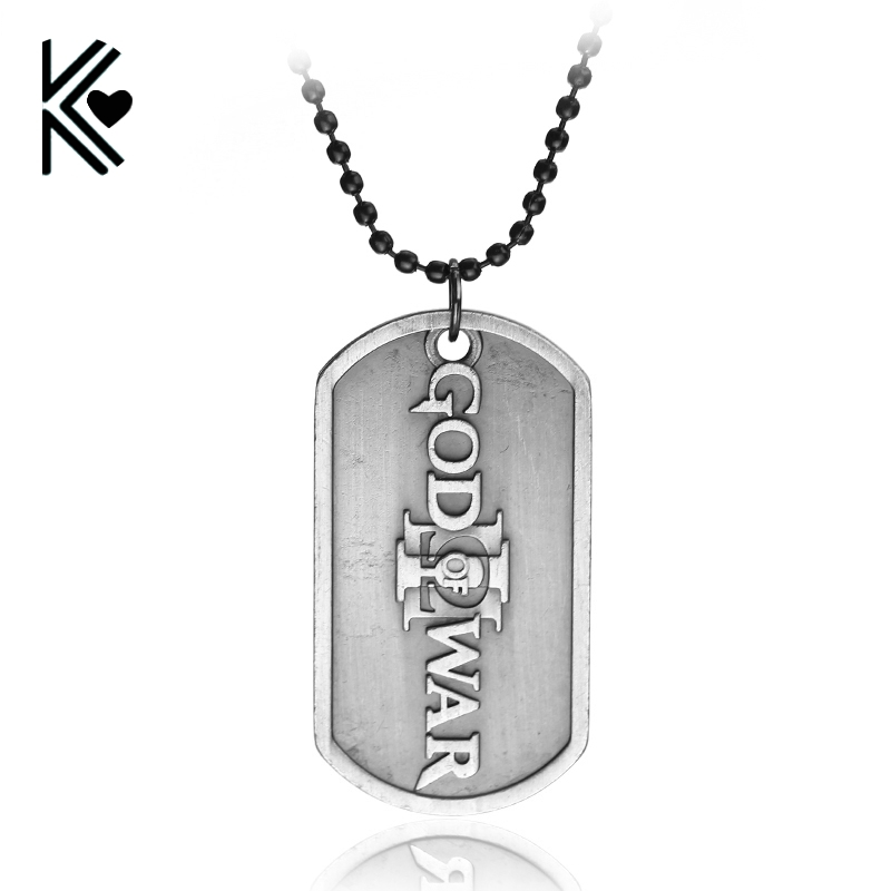 Games ps4 god of war 3 pendant necklace dog tag charm pendants games ps4 god of war 3 pendant necklace dog tag charm pendants necklaces for fans wholesale retail mozeypictures Gallery