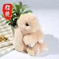 15 CM súper adorable Conejito Conejo Muerto pelo de conejo al por mayor fábrica de Mini Colgante Llavero conejo Meng