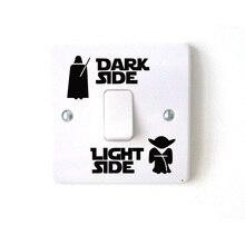Wars Темный светильник сбоку звезда классический фильм забавные виниловые Стикеры для выключателя наклейка 3WS0001