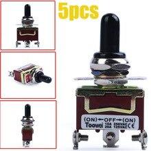 Кулисный тумблер сверхмощный 20A 125 V/15A 250 V AC SPDT 3 положения 3 Терминала 3 Pin ВКЛ-ВЫКЛ-ВКЛ 3 P тумблеры с загрузкой