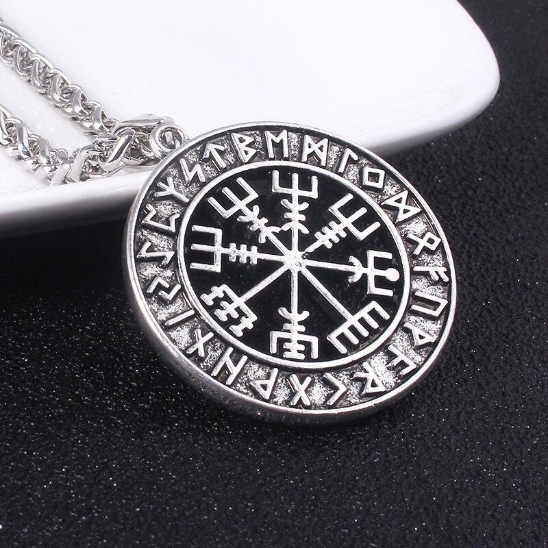 SG Norse Vikings Necklaces Pendants Odin's Runes Destiny Wolf Supernatural Moon Pentagram For Men Women Jewelry Gift