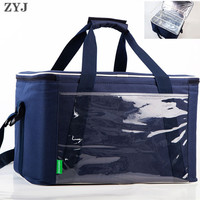 ZYJ Outdoor Cans Picnic Cooler Bag Takeout Warmer Food Thermal Car Ice Insulation Storage Shoulder Lunch Tote Box Cool Bag Pack