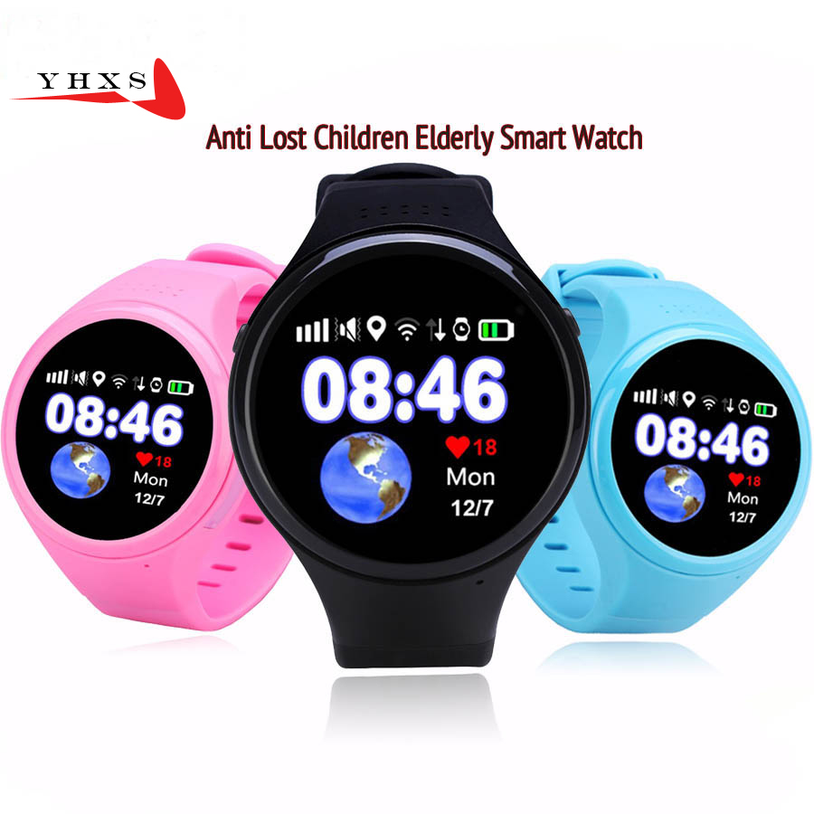 1.22 Touch Round Screen Smart Location Finder Device GPS WIFI Tracker Watch for Baby Kid Elder Anti Lost Monitor PK T58 Q50 Q90