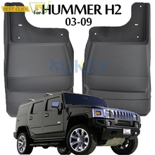 Front Rear Mud Flaps For HUMMER H2 2003   2009 Car Fenders Splash Guards Flap Mudguards Car Styling 2004 2005 2006 2007 2008