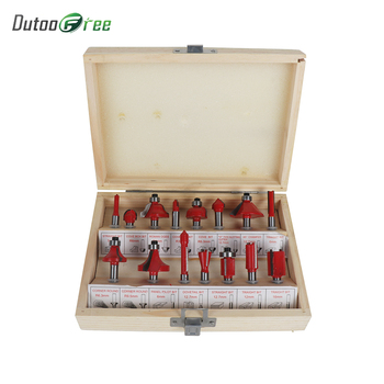 Dutoofree Shank Tungsten Carbide Router Bit Set Wood Woodworking Cutter Trimming Knife Forming Milling Wood Case ox dremel tool цена 2017