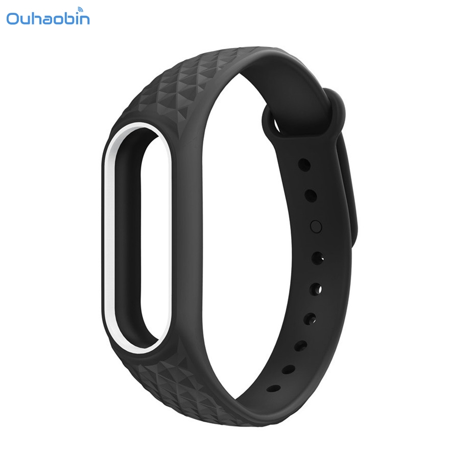 Ouhaobin New Fashion Light Original Silicone Wrist Strap WristBand Bracelet Replacement For XIAOMI MI Band 2 Straps Nov11