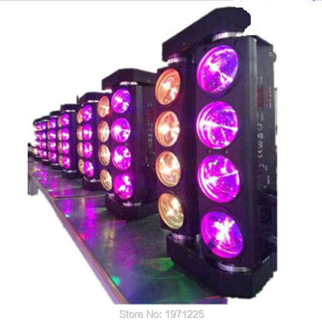 4pcs/lot New Arrival 8x10W Led Spider Moving Light,Professional DJ Disco Lighting Equipment for Christmas partyCLUB PAR