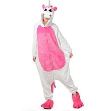 Halloween Stitch Panda Unicorn Pajamas Sets Homewear Flannel OnePiece Costume Lounge Wear Kugurumi Onesie For Women Men(China)