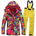 NEW skiing sets jackets women ski suits jackets + pants snowboard clothing, snowboard ski jacket Waterproof Breathable Wind warm