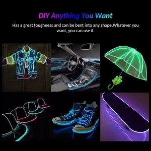 Image 5 - Неоновая декоративная лента, гибкая LED лампа для танцев и вечеринок, водонепроницаемая LED полоска с контроллером, 1 м, 3 м, 5 м