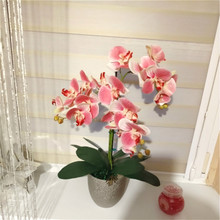 3d artificial borboleta orquídea flores falso traça flor orquídea flor para casa decoração de casamento diy toque real decoração casa flore