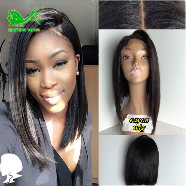 Bob Cut Wigs Short Curly Wig For Black Women Cheap African American Full Lace  Human Hair 3fda658b0