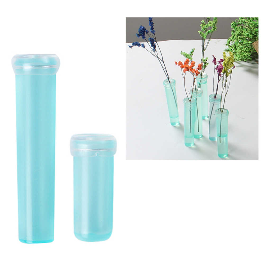 50 Pcs Floral Water Tube Vials Plastic Tubes Rose Flower Orchid Tubes with Caps 4CM 7CM