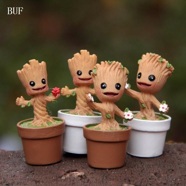 Boom In Pot Tuin.Us 8 39 30 Off Buf 4 Stks Set Flowepot Groot Baby Action Speelgoed Diy Tuin Ornamenten Boom Elfen Pot Sculptuur Resin Collectie Vakmanschap Pot In