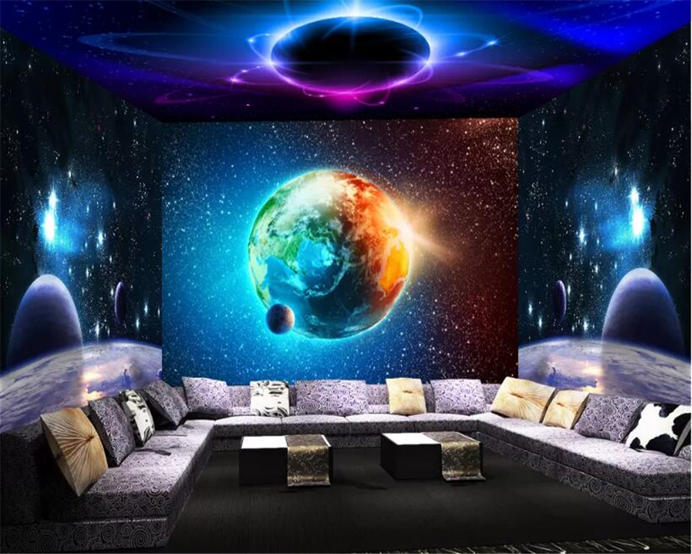 Beibehang Wallpaper For Walls 3 D Custom Wall Sticker Cool Universe Starry 3d Theme Space 3d Room Wallpaper Whole House Wall Wallpapers Aliexpress