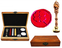 Vintage Clover Custom Luxury Wax Seal Sealing Stamp Brass Peacock Metal Handle Sticks Melting Spoon Wood