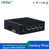 Hot sale N10 Plus home server mini pc j1900 quad core CPU 4 intel lan firewall vpn router support linux pfsense OS and 3G/4G
