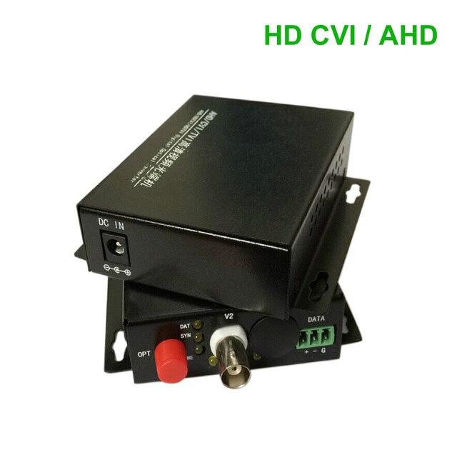 HD CVI AHD 1 Channel Video data optical Media Converter Transmitter Receiver -1Pair  for 720P 960P AHD CVI HD cameras CCTV