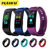 Smart Band Y5 Watch Color Screen Wristband Heart Rate Activity Fitness Tracker Smartband Electronics Bracelet PK