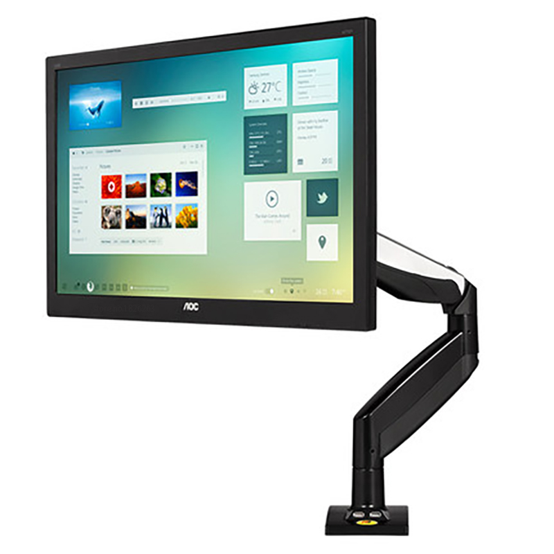 NB F85A Desktop Mechanical Spring Full Motion 22 32 inch Monitor Holder Mount Arm with Two