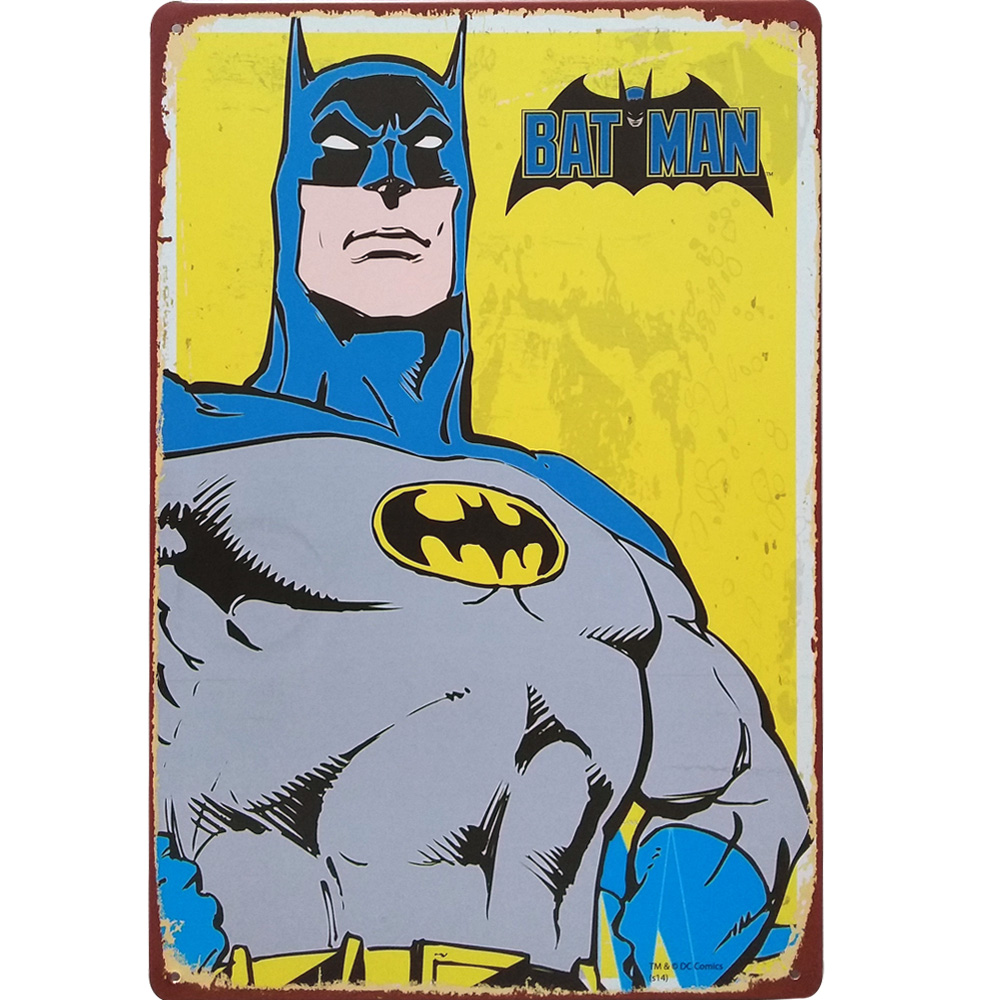 SUPER HERO Movie Star Metal Decor Plaque Tin Vintage Cartoon Sign ...