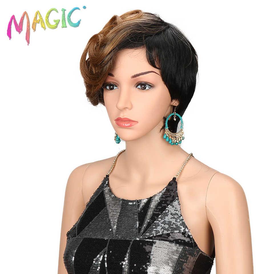 Волшебные синтетические парики для женщин волнистые 10 дюймов женские s парики короткие синтетические волосы блонд парик термостойкие волосы бесплатная доставка