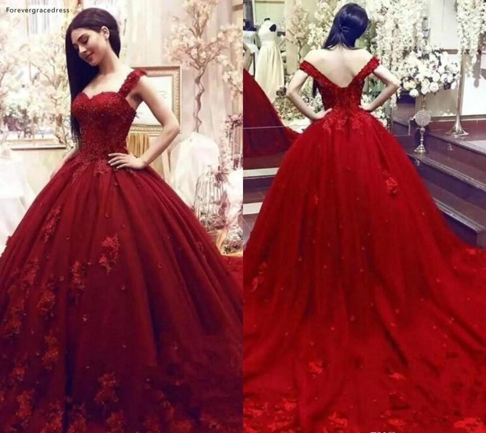 Dark Red Quinceanera Dresses 2019 Appliques Sleeveless Formal Princess Sweet 16 Ages Girls Prom Party Pageant Gowns Plus Size