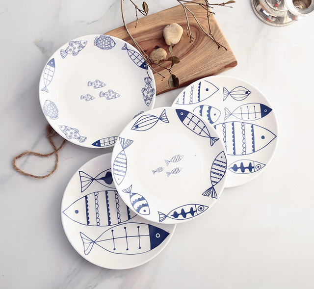 Fish Design China Cake Dishes And Plates Porcelain Pastry Fruit Tray Ceramic Tableware For Steak Dinner  sc 1 st  AliExpress.com & Fish Design China Cake Dishes And Plates Porcelain Pastry Fruit Tray ...